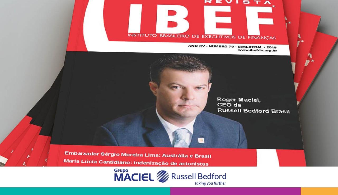 , CEO da Russell Bedford Brasil é capa na edição de abril da revista IBEF, Russell Bedford Brasil