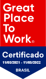 Selo Empresa Certificada Great Place do Work Brasil